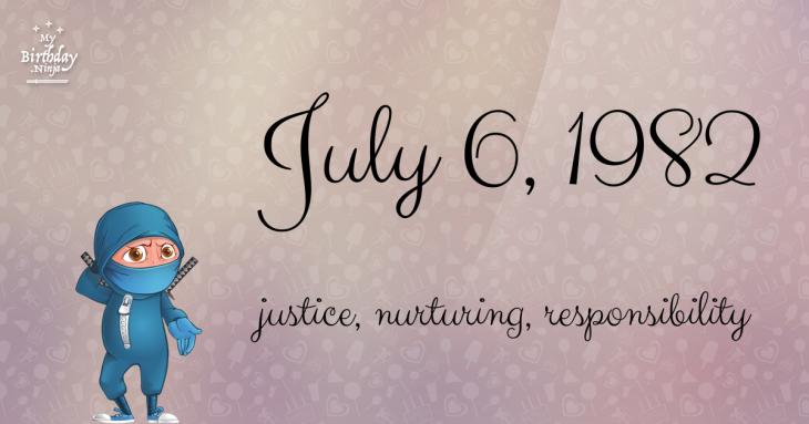July 6, 1982 Birthday Ninja