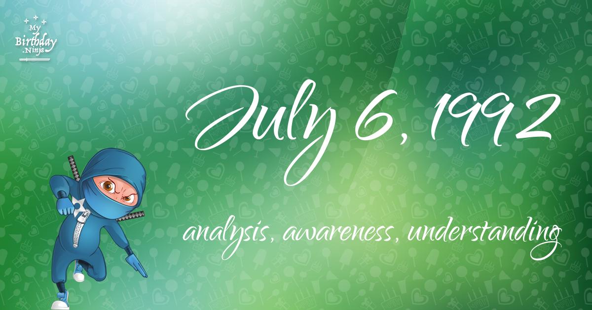 July 6, 1992 Birthday Ninja Poster