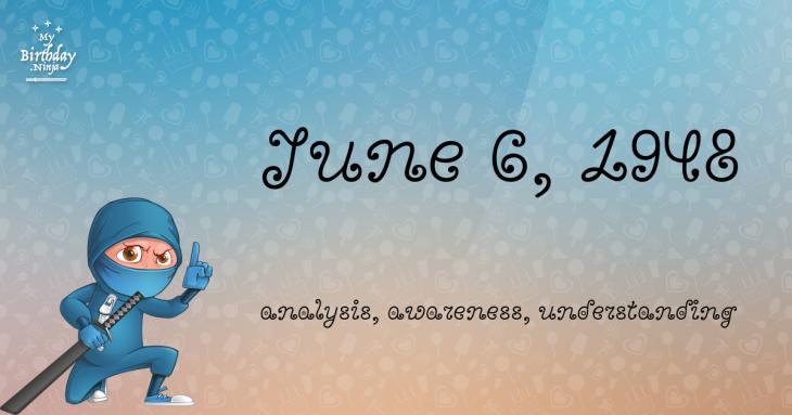 June 6, 1948 Birthday Ninja