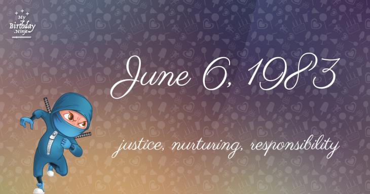 June 6, 1983 Birthday Ninja