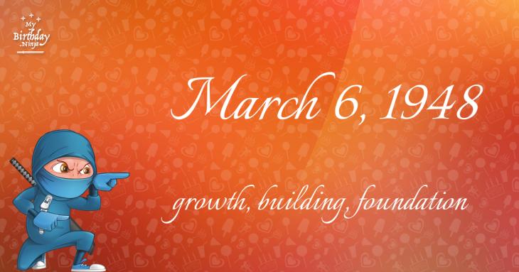 March 6, 1948 Birthday Ninja