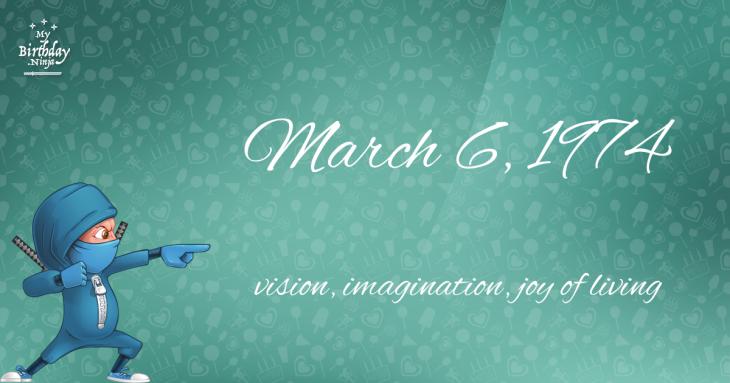 March 6, 1974 Birthday Ninja