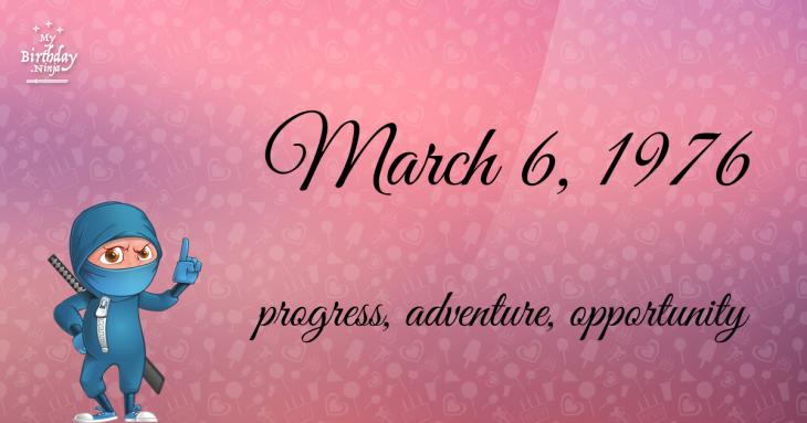 March 6, 1976 Birthday Ninja