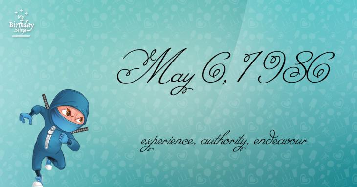 May 6, 1986 Birthday Ninja