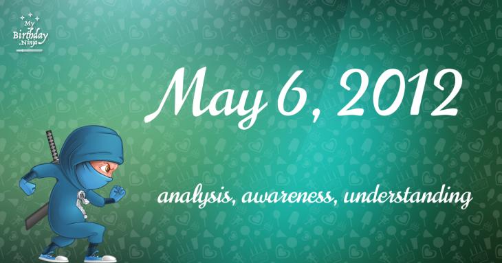 May 6, 2012 Birthday Ninja