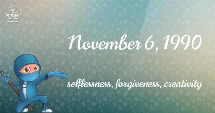November 6, 1990 Birthday Ninja