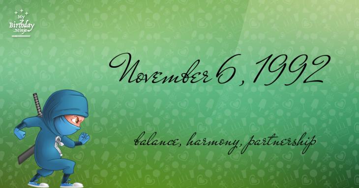 November 6, 1992 Birthday Ninja