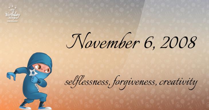 November 6, 2008 Birthday Ninja