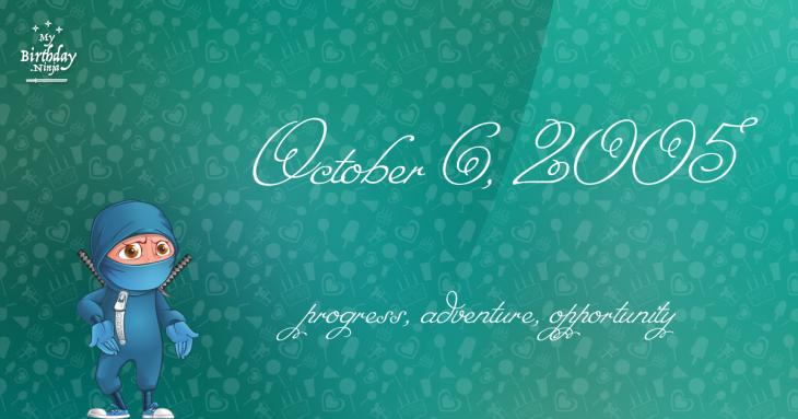 October 6, 2005 Birthday Ninja