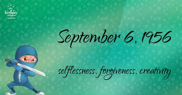 September 6, 1956 Birthday Ninja
