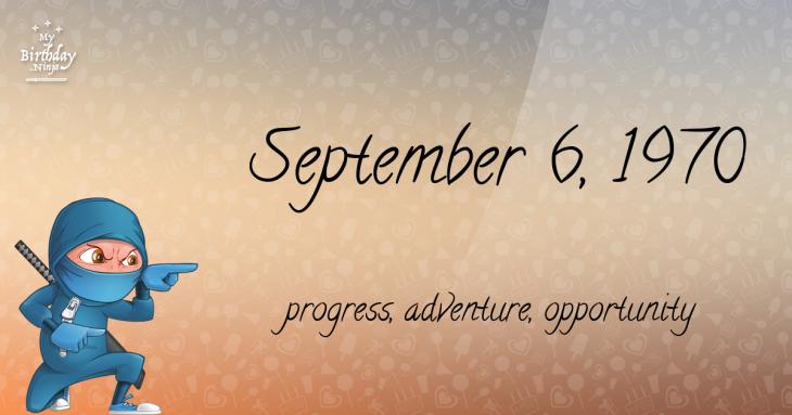 September 6, 1970 Birthday Ninja