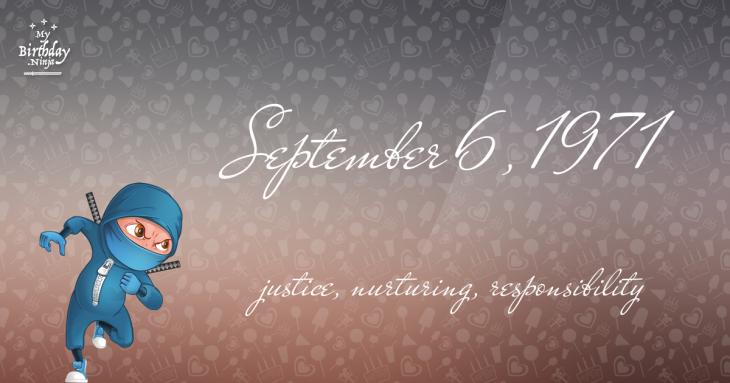 September 6, 1971 Birthday Ninja