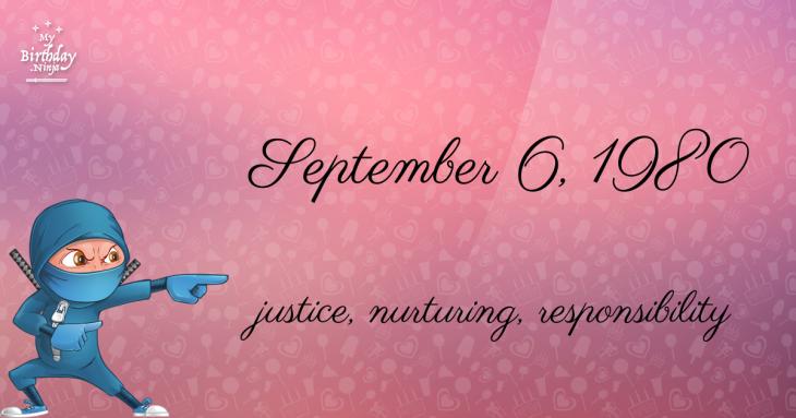 September 6, 1980 Birthday Ninja