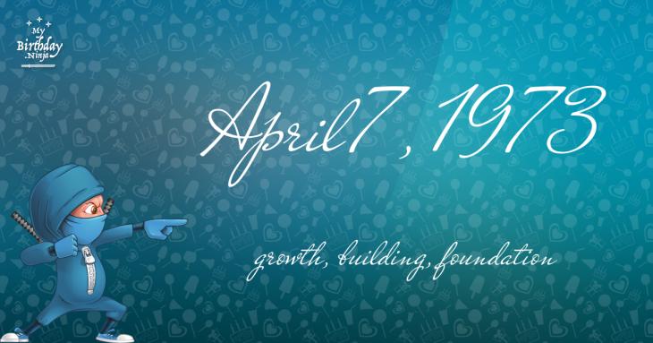 April 7, 1973 Birthday Ninja