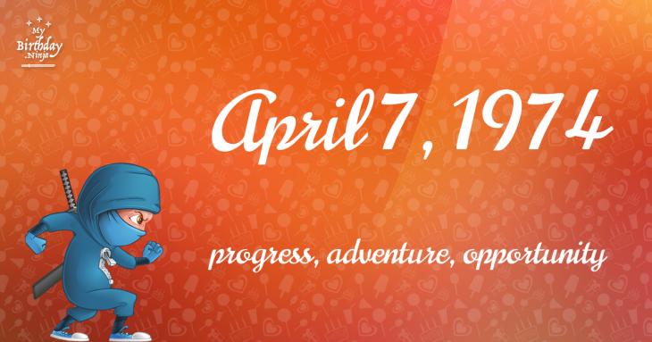 April 7, 1974 Birthday Ninja
