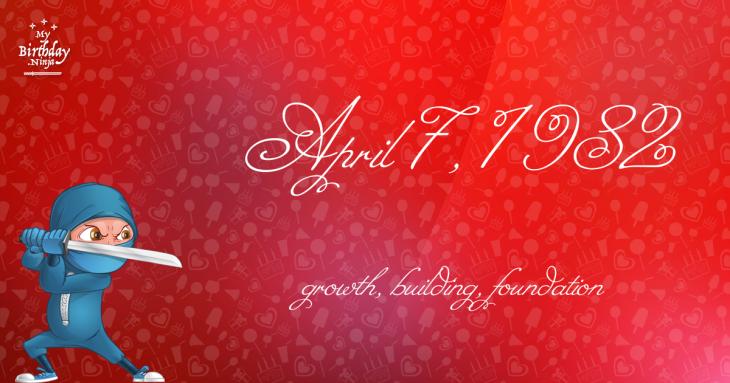 April 7, 1982 Birthday Ninja