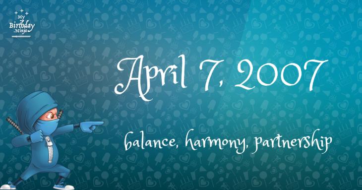 April 7, 2007 Birthday Ninja