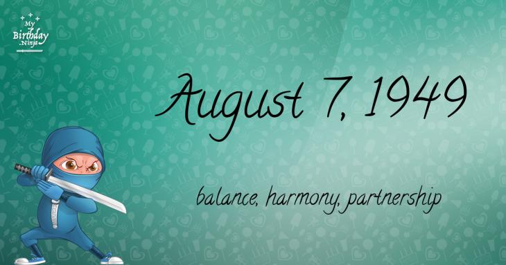 August 7, 1949 Birthday Ninja