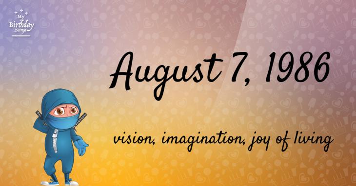 August 7, 1986 Birthday Ninja
