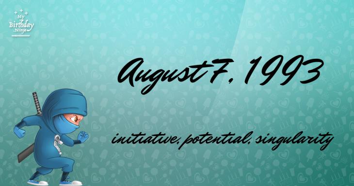 August 7, 1993 Birthday Ninja