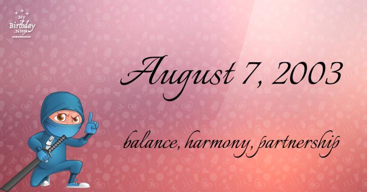 August 7, 2003 Birthday Ninja