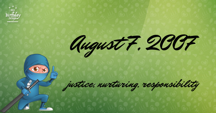 August 7, 2007 Birthday Ninja