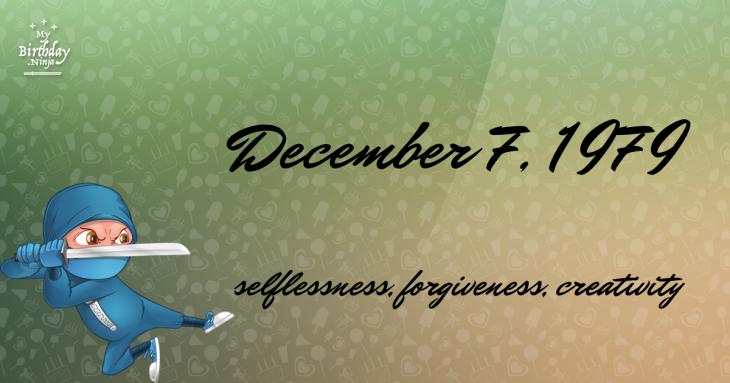 December 7, 1979 Birthday Ninja
