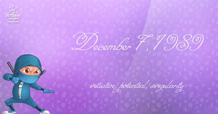 December 7, 1989 Birthday Ninja