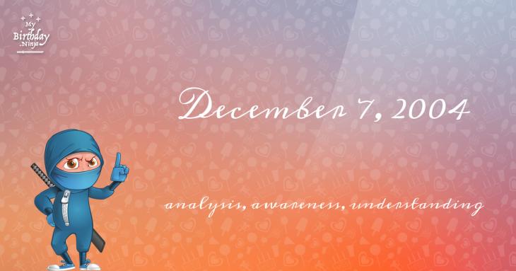 December 7, 2004 Birthday Ninja