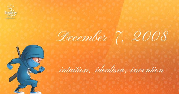 December 7, 2008 Birthday Ninja