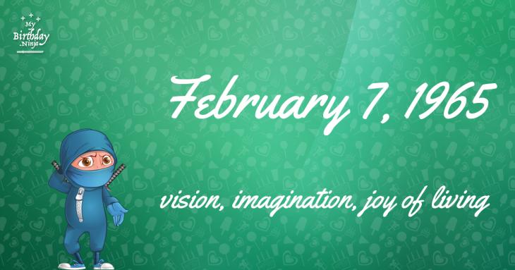 February 7, 1965 Birthday Ninja