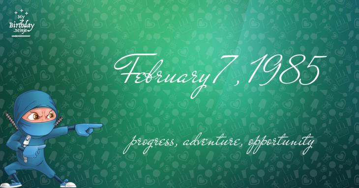 February 7, 1985 Birthday Ninja