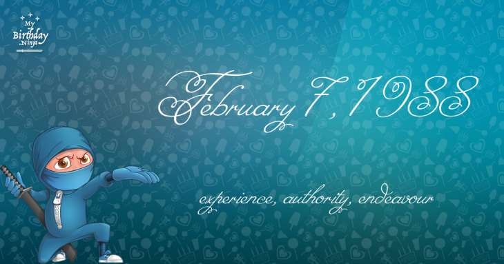 February 7, 1988 Birthday Ninja
