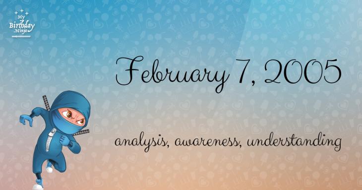 February 7, 2005 Birthday Ninja