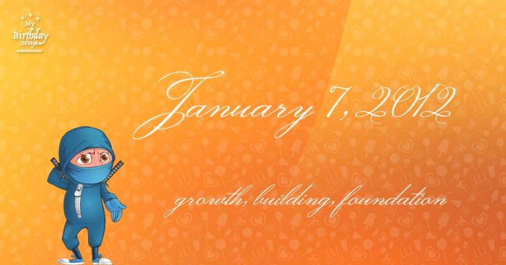 January 7, 2012 Birthday Ninja