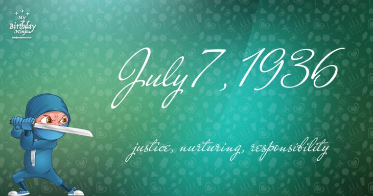 July 7, 1936 Birthday Ninja