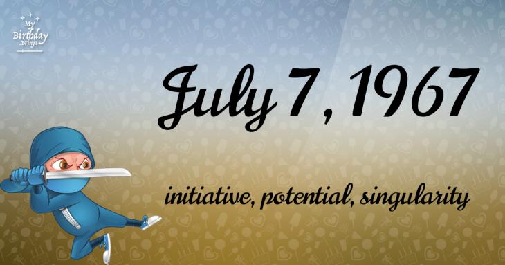 July 7, 1967 Birthday Ninja