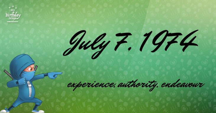 July 7, 1974 Birthday Ninja