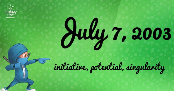 July 7, 2003 Birthday Ninja