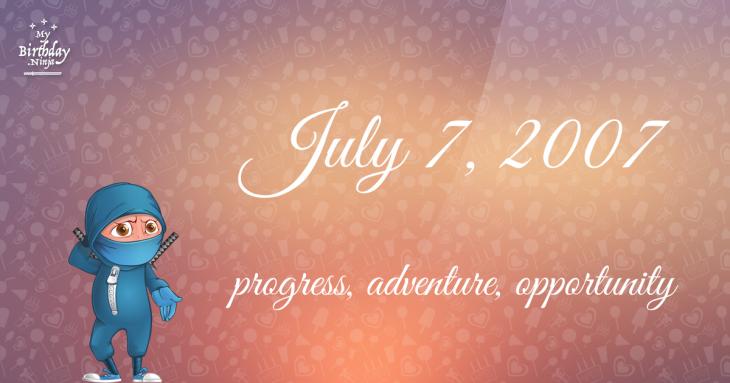 July 7, 2007 Birthday Ninja