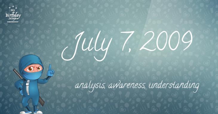 July 7, 2009 Birthday Ninja