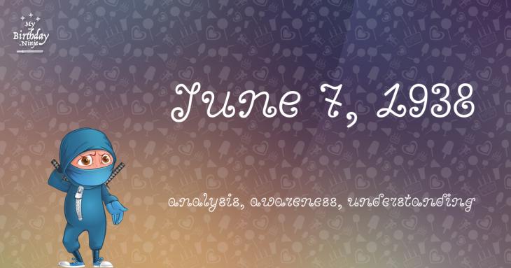 June 7, 1938 Birthday Ninja