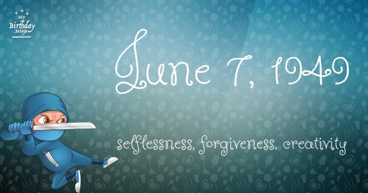 June 7, 1949 Birthday Ninja