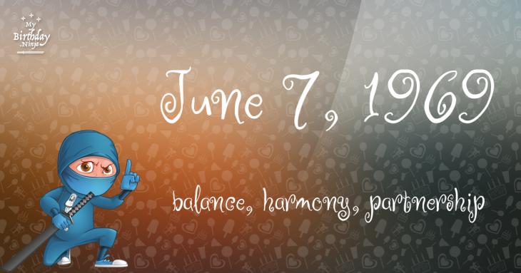 June 7, 1969 Birthday Ninja