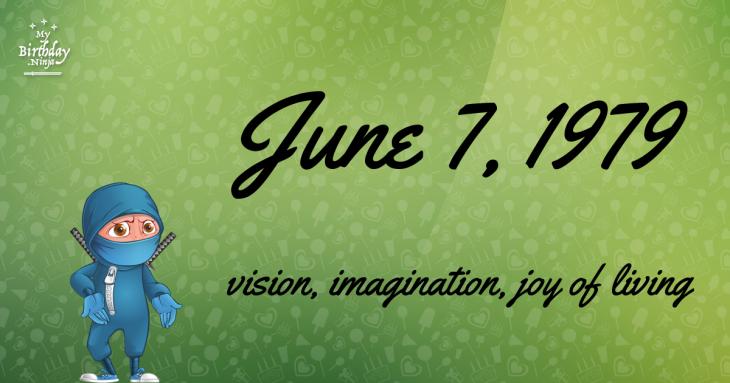 June 7, 1979 Birthday Ninja