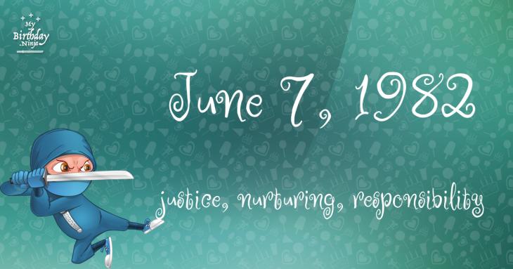June 7, 1982 Birthday Ninja