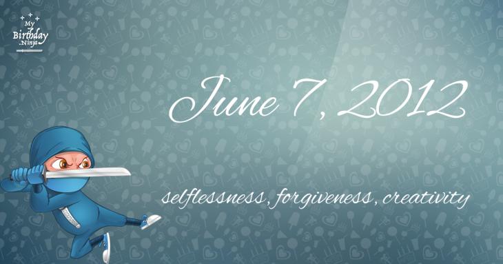 June 7, 2012 Birthday Ninja