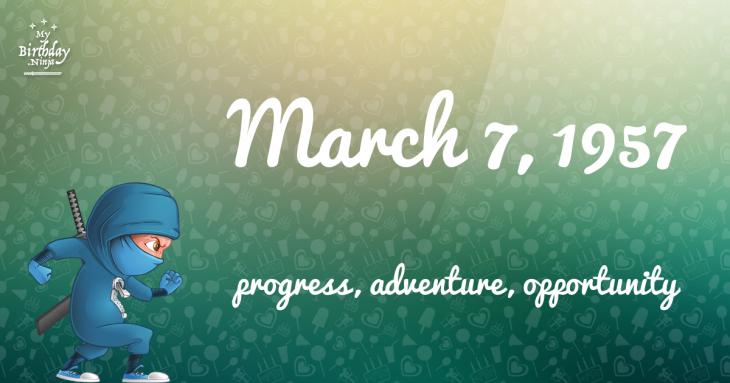 March 7, 1957 Birthday Ninja