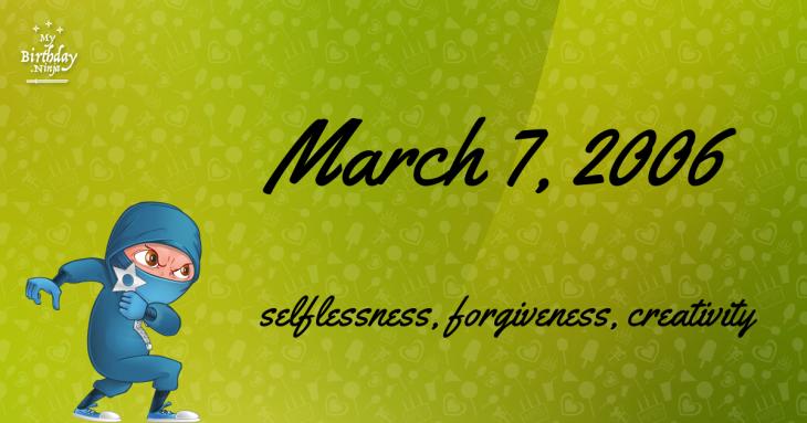 March 7, 2006 Birthday Ninja