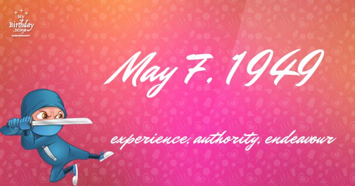 May 7, 1949 Birthday Ninja